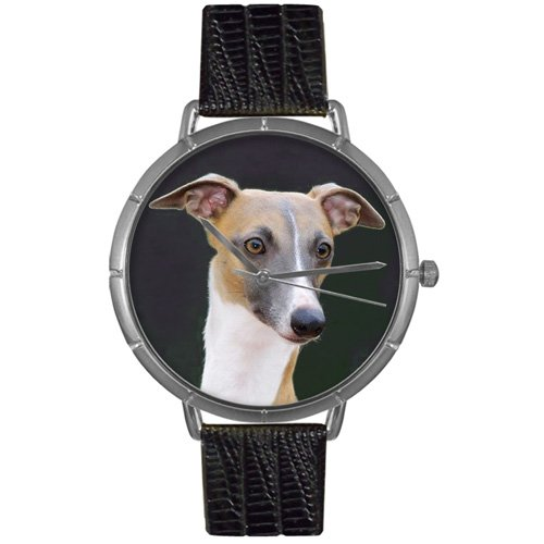 Greyhound Whimsical Watches Women's T0130046  Black Leather And Silvertone Photo Watch