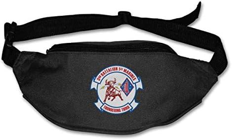 第3大隊第1マリンユニセックスアウトドアファニーパックバッグベルトバッグスポーツウエストパック