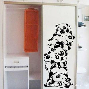 Cute Panda Melestore Piramide Pegatinas Pared Habitacion De Los - Dibujos-de-pared