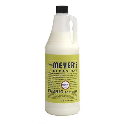 Mrs. Meyer's Clean Day Fabric Softener, Lemon Verbena, 32 Ounce (Lemon Verbena Fabric Softener)