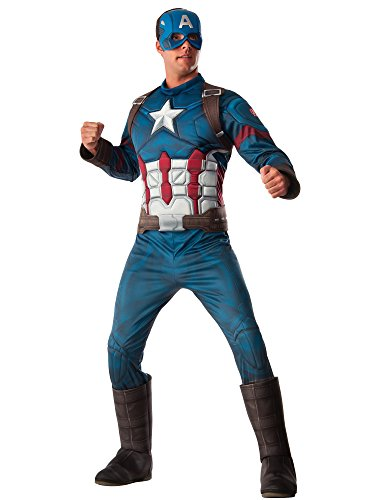 [Rubie's Costume Co. Men's Captain America: Civil War Deluxe Muscle Chest, Multi, Standard] (Captain America Costumes For Adults)