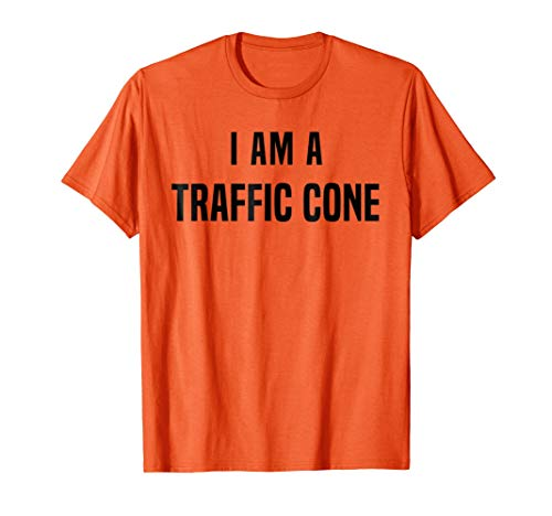 Traffic Cone Costume Shirt Easy Simple Halloween Costumes]()