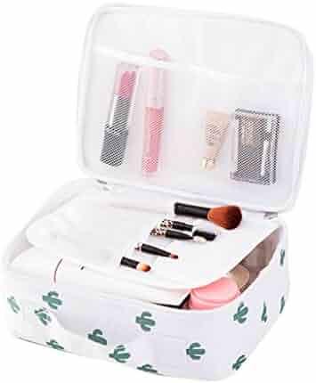 Little rock Flamingo Print Makeup Brushes Holder Bag Pouch Portable Gift for Girls