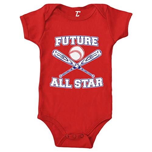 Future All Star - Baseball Bodysuit (Red, 6 Months)