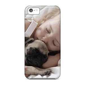DaMMeke BgiuXrm3795Tyjqp Case Cover Skin For Iphone 5c (cute Little Girl With Pug)