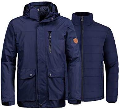 Wantdo Men's Waterproof 3-in-1 Ski Jacket Warm Winter Snow Coat Windproof Rain Jackets Snowboarding Jackets