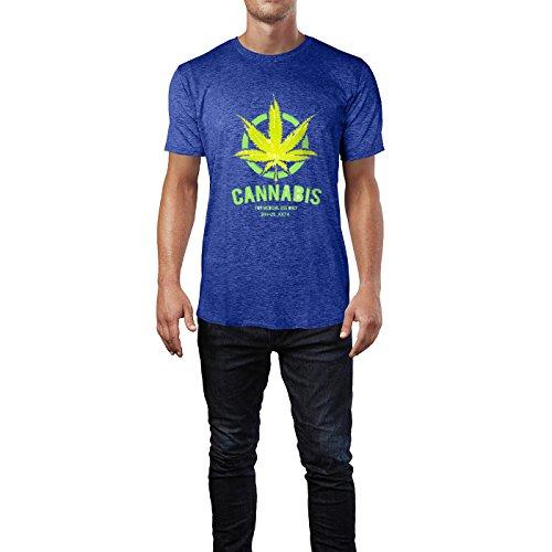 SINUS ART® Nur für den medizinischen Gebrauch Herren T-Shirts in Vintage Blau Cooles Fun Shirt mit tollen Aufdruck