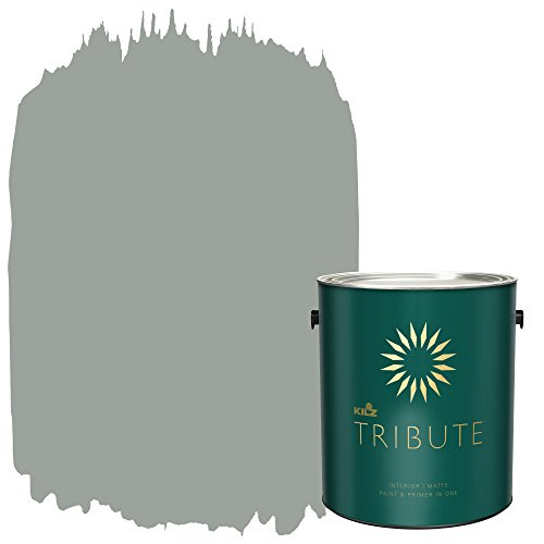 KILZ TRIBUTE Interior Matte Paint and Primer in One, 1 Gallon, Stone Cold (TB-66) by KILZ