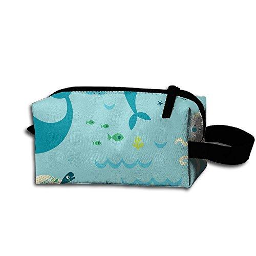 Unisex Design Ocean Fun Pattern Portable Make-up Receive Bag Hand Cosmetic Bag Makeup Bag Sewing Kit Medicine Bag For - Things To Camping Bring For Fun
