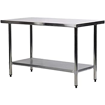 Amazon 24 x 72 stainless steel kitchen work table commercial commercial kitchen restaurant stainless steel work table 24 x 48 inchs watchthetrailerfo