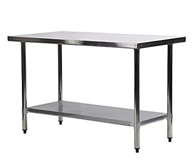 Merveilleux Commercial Kitchen Restaurant Stainless Steel Work Table, 24 X 48 Inchs