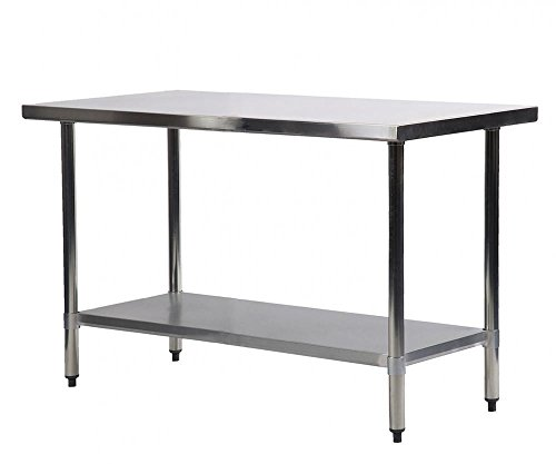 Commercial Kitchen Restaurant Stainless Steel Work Table, 24 X 48 Inchs by FDW