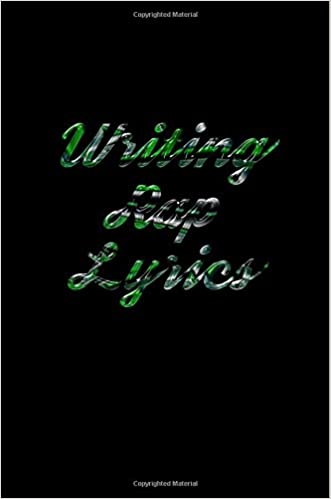 Writing Rap Lyrics: Blank Journal Notebook To Write In