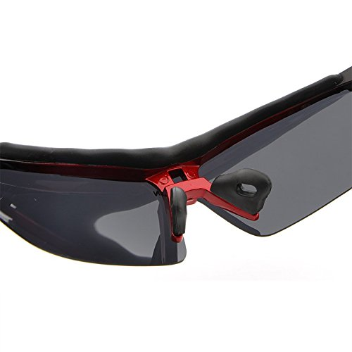 Lunettes pour Classique Aviateur Polarisé Red Soleil de Vintage Conduire Métal JCH UV400 Cyclisme Protection Matériel Hommes Pêche Volant RqC5gOI
