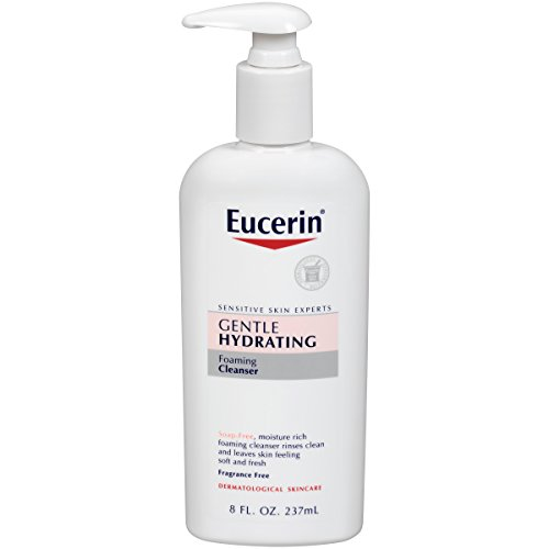 Eucerin Bath - Eucerin Gentle Hydrating Foaming Cleanser, 8 Fluid Ounce (Pack of 3)