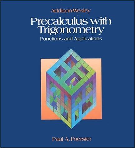 Amazon.com: Precalculus With Trigonometry (9780201813562): Paul A ...