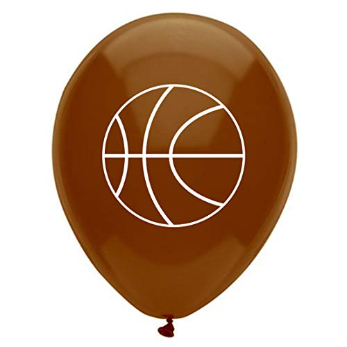 MAGJUCHE Basketball Latex Balloons, 16pcs Sports Basketball Themed Birthday Party Decorations, Supplies]()
