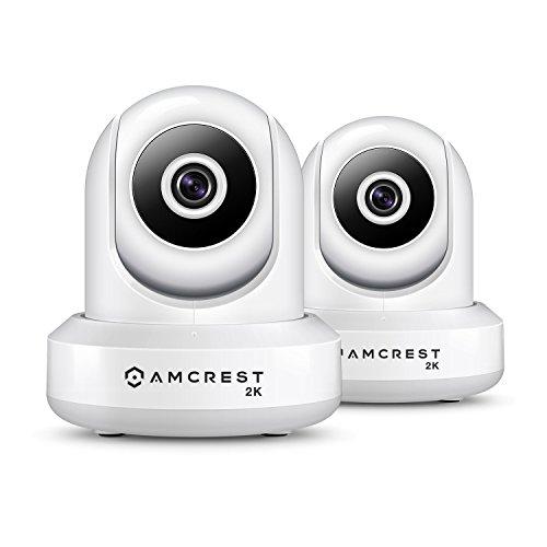 (2-Pack Amcrest UltraHD IP3M-941W 2K (3MP/2304TVL) WiFi IP Camera w/Pan/Tilt, Dual Band 5ghz/2.4ghz, 90 Degree FOV (White))