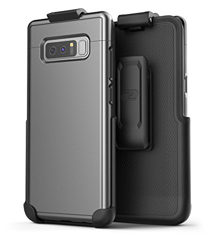 Encased Galaxy Note 8 Belt Case, [SlimShield Edition] Protective Grip Case with Holster Clip for Samsung Galaxy Note 8 (Gunmetal Grey)