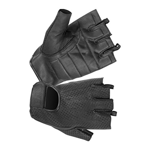 - Hugger Glove Men's Weatherlite Fingerless Motorcycle or Driving Glove with Gel Padded Palm X-Large Black