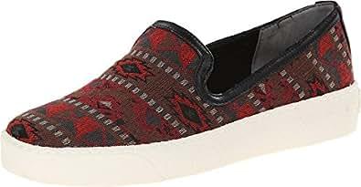 Sam Edelman Women's Becker Red Multi Tribal Print Sneaker 5 M