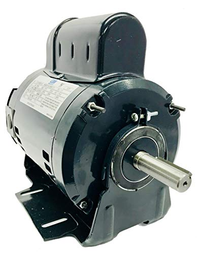 GW YY4824RG-A1F 1/2 HP PSC Motor, 1 Phase, 48/56 Frame, 1/2HP, 1625RPM, ODP Enclosure, Resilient Base, 115V, 60Hz, Manual Overload - Shaft Sizes Motor