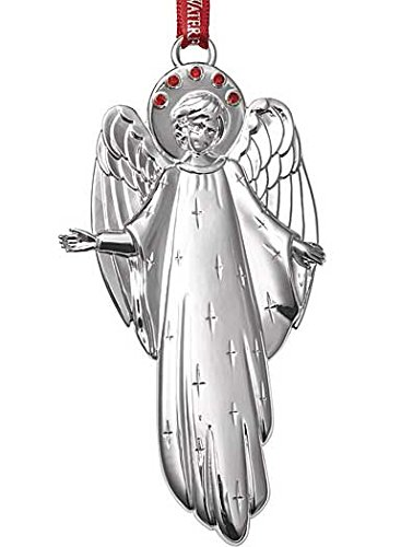 Waterford Enchanting Angel with Red Gem Halo Silver Christmas Ornament (2015) Halo Christmas Ornament