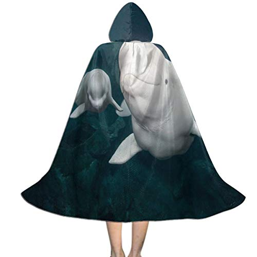 Hooded Cloak Cape Beluga Whale Marvellous Party Vampires Cosplay for Kids Girls Boys