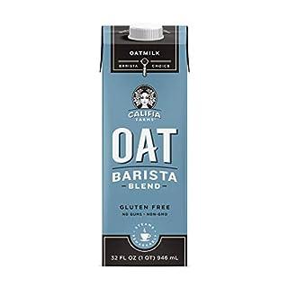 Califia Farms - Oat Milk, Unsweetened Barista Blend, 32 Oz (Pack of 6)   Shelf Stable   Non Dairy Milk   Creamer   Vegan   Plant Based   Gluten-Free   Non-GMO