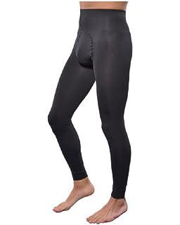 bed7520d2cf Knittex Sporty Black Opaque Leggings For Men Strong Front Gusset 100 ...