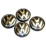 Volkswagen Caddy,EOS,Golf,Jetta,Passat CC,Phaeton,Scirocco,Sharan,Tiguan,Touran,Transporter 65MM Hubcap Wheel Center Caps - Part Number 3B7-601-171 (4 Pieces)