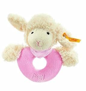 Steiff 237454 - Anilla para bebés con forma de oveja en color rosa, 12 cm