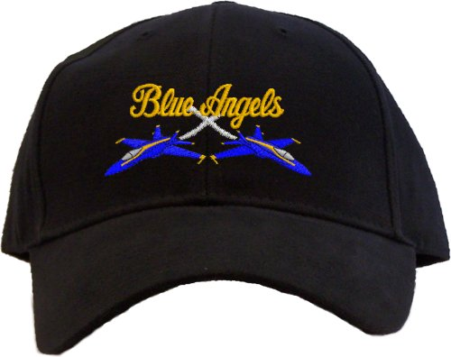 Blue Angels Embroidered Baseball Cap - Black