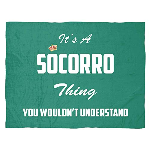 baken It's A Socorro Thing, You Wouldn't Understand Large Fleece Blanket (80