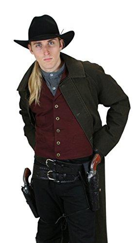 Historical Emporium Men's Classic Cotton Canvas Work Vest L (Classic Fully Lined Vest)