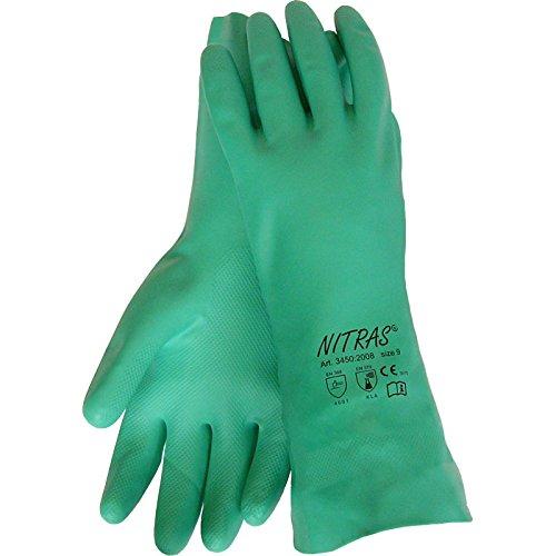 72 Paar NITRAS 3450 Nitril Handschuh 32 cm, grün CAT 3 , Gr.: 10