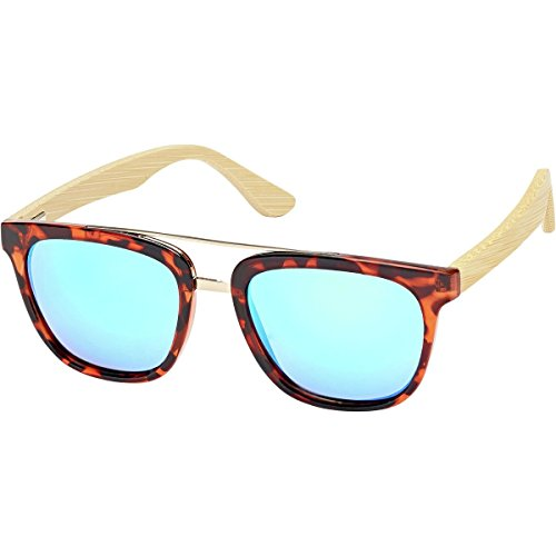 Blue Planet Eyewear Sutter Sunglasses - Polarized Dark Tortoise + Gold Accent, One - Planet Blue Sunglasses