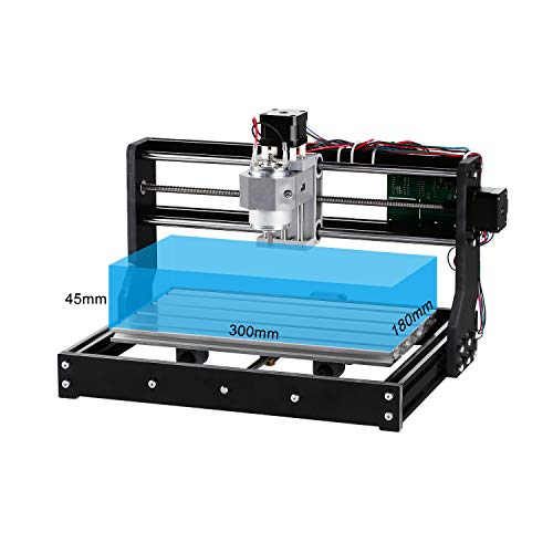 Genmitsu CNC 3018-PRO Router Kit GRBL Control 3 Axis Plastic Acrylic PCB PVC Wood Carving Milling Engraving Machine, XYZ Working Area 300x180x45mm by Genmitsu (Image #3)
