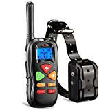 Training Dog Collar - Ticent Dog Training Collar with Remote Controller Shock Collar for Small Medium Large Dogs, 1000ft Rechargeable Waterproof Dog Training Collar with Beep/Vibration/Electric Shock [2018 Upgraded]