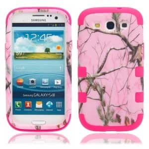 Pink Tree Branch Pattern Plastic Protective Case for Samsung S3/i9300 Rose Red Bottom