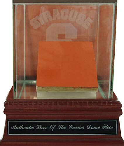 (Piece of Carrier Dome Court w/Syracuse Etched Glass Case and Name Plate)
