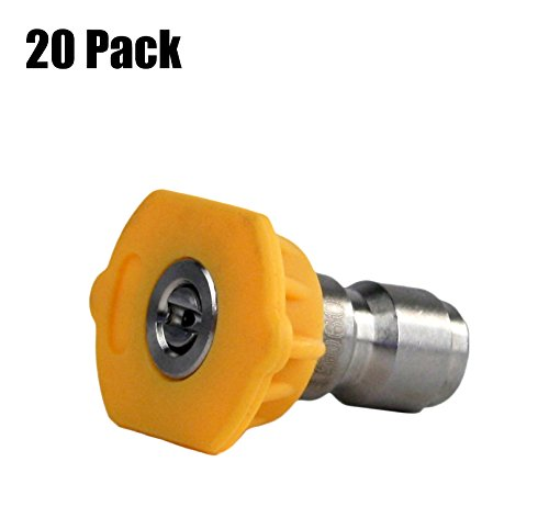 20 Pack of Erie Tools 3.0 Stainless Steel Orifice 15 Degree 1/4'' Quick Connect 4,000 PSI High Pressure Washer Spray Nozzle Tips by Erie Outdoor Power Equipment