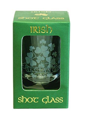 Shamrock Crystal Shot Glass (Celebration Design Collectible Shot Glass)