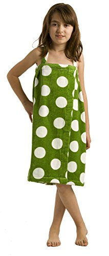 byLora Terry Cotton Girls Cover Up, Apple Green, Small