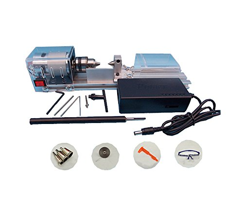 LUBAN Mini Lathe Beads Polisher Machine DC 24V 80W for DIY Woodworking (Style4) by LUBAN