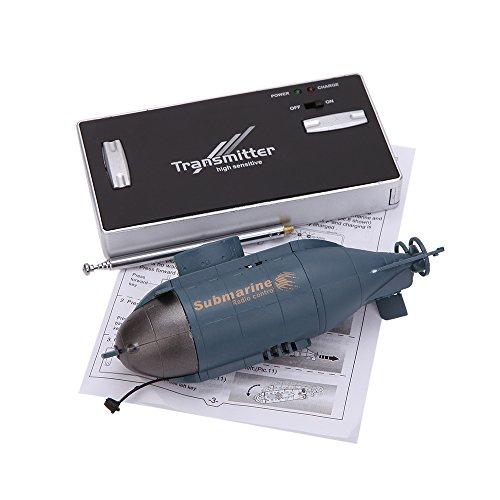 PTCM Mini 6 Control Channel Radio Racing Submarine Bateau R / C Toys avec 40MHz émetteur 777-216 (bleu)