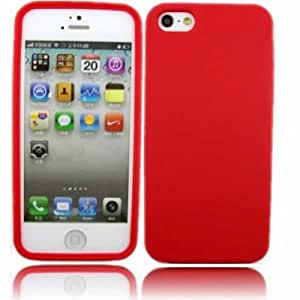 Silicona Caso Cubrir Concha Para Apple iPhone 5 5S / Red