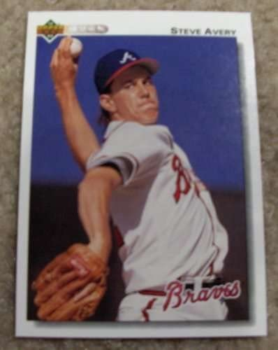 Amazon Com 1992 Upper Deck Steve Avery 475 Mlb Baseball Card Collectibles Fine Art