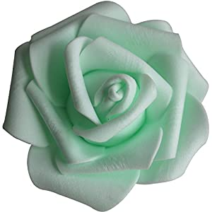 Lightingsky 3 x 1.6 x 3 inches DIY Real Touch 3D Artificial Foam Rose Head Without Stem for Wedding Party Home Decoration 1