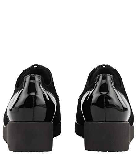 Mujer Con Cerrada De Tacón Peter Negro Punta Zapatos Kaiser 0IwcqCgB